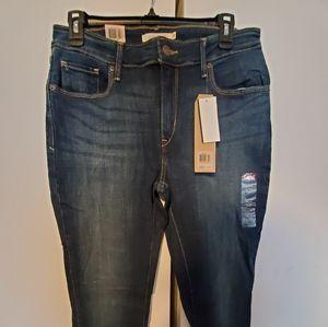 NWT Womens Levi's Mid Rise Skinny 31 12M Blue Jean